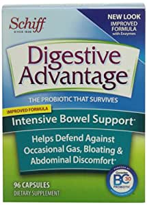 Digestive Advantage Probiotics-Intensive Bowel Support Probiotic Capsules, 96 Capsules