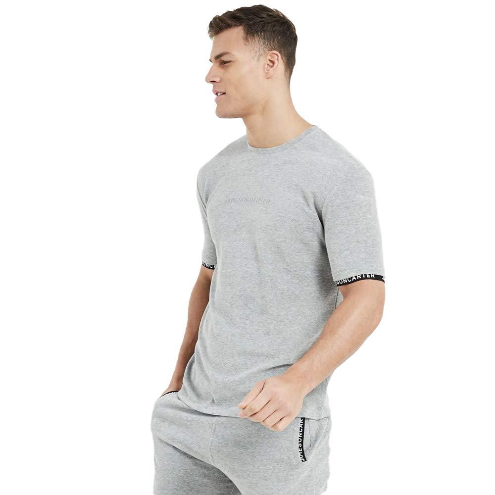 Grey Marl Jameson Carter Towelling Twin Set T-Shirt
