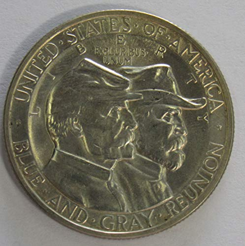 1936 P Battle of Gettysburg Silver Commemorative Half Dollar 50c Gem Brilliant Uncirculated