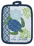 4-Piece-Sea-Turtle-Kitchen-Set-2-Terry-Towels-Oven-Mitt-Potholder