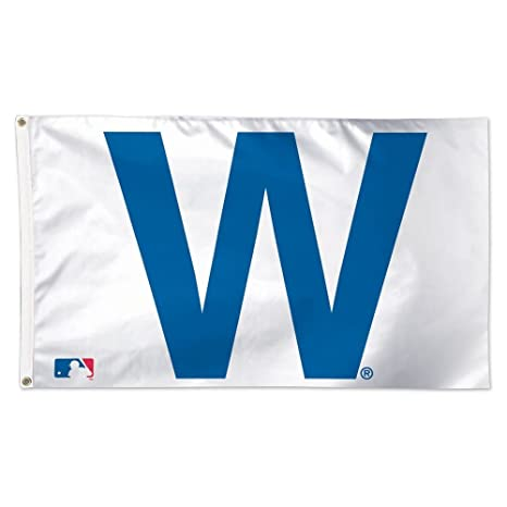 image about Printable Cubs W Flag named WinCraft MLB Chicago Cubs 02484115 Luxurious Flag, 3 x 5
