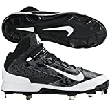 Nike Mens Huarache Pro Mid Baseball Cleats 11 US Black/White