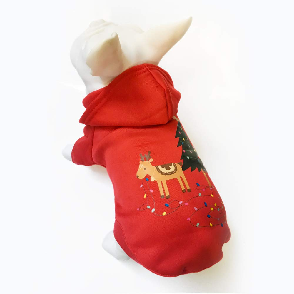 Teddy Bear Christmas Jacket Cotton Pet Sweater Autunno//Inverno MYJ Abiti Natalizi Per Animali Domestici