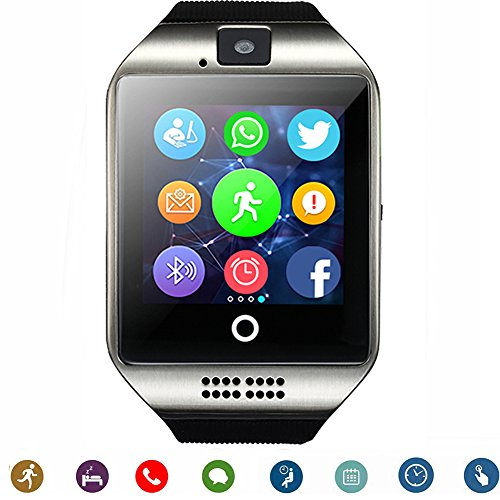 Smartwatch TagoBee TB-02 Bluetooth Smart Watch with Camera Music Player Supports SIM / TF Card curved ultra HD touch screen for Android Phones and iPhone (Partial Function) black (black) TagoBee
