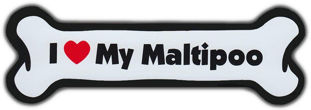 Dog Bone Magnet I Love My MaltipooFor Cars Refrigerators More