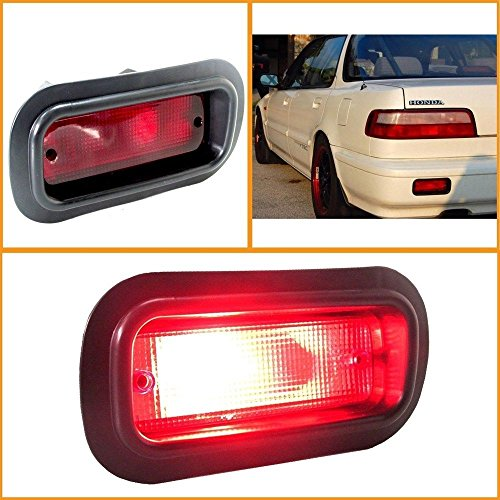 Suit Honda (Jdm Style Rear Red Bumper Fog Light Lamp Suits All Kind Nissan Car Version Honda Civic Accura Integra Prelude)