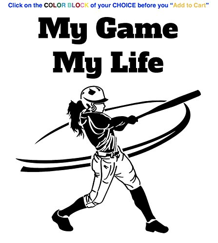 Softball Figure - Baseball Softball Player Decor Sticker Wall Art Design Phrase Decal is a Softball Figures Wall Sticker Print Vinyl Decal. Size 22 x 25.75. Many Colors-GREEN