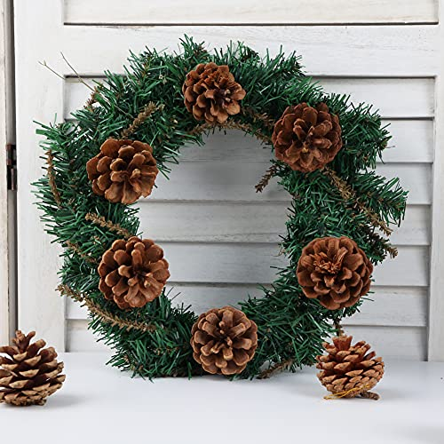JOHOUSE 24PCS Big PineCones, Natural PineCones Package, PineCones Ornaments for Autumn and Winter Crafts Decorating, Christmas Decor, Bowl Vase Fillers