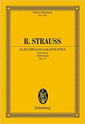 TOP THUS SPAKE ZARATHUSTRA OP 30 ALSO SPRACH ZARATHUSTRA SYMPHONIC POEM STUDY SCORE (Edition Eulenburg). Previous section going defender calidad