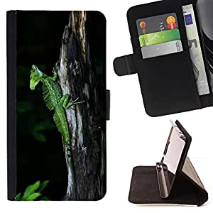 - cool cute nature trunk green lizard chameleon - - Prima caja de la PU billetera de cuero con ranuras para tarjetas, efectivo desmontable correa para l Funny HouseFOR Samsung Galaxy S3 Mini I8190Samsung Galaxy S3 Mini I8190