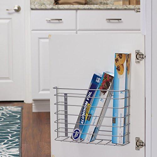 Household Essentials 1229-1 Tall Basket Door Mount Cabinet Organizer   Mounts to Solid Cabinet Doors or Walls