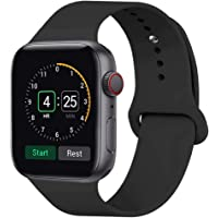 INTENY Sport Band Compatible for Apple Watch 38mm 40mm 42mm 44mm, Soft Silicone Sport Strap Replacement Band Compatible for Apple Watch Series 4, Series 3, Series 2, Series 1
