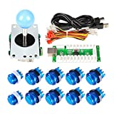EG Starts Arcade DIY Kits Parts USB Encoder To PC Games 5Pin Joystick + 10x LED Illuminated Push Buttons For Mame Raspberry pi 2 3 Controllers & Blue