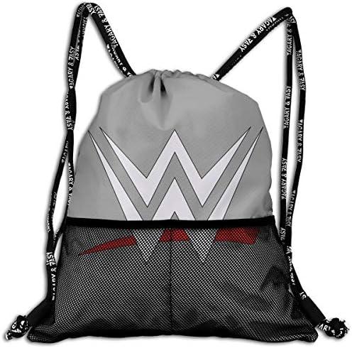 Wwe Logo (5) ナップサック アウトドア ジムサック 防水仕様 バッグ 巾着袋 スポーツ 収納バッグ 軽量 バッグ 登山 自転車 通学・通勤・運動 ・旅行に最適 アウトドア 収納バッグ 男女兼用 ジムサック バック