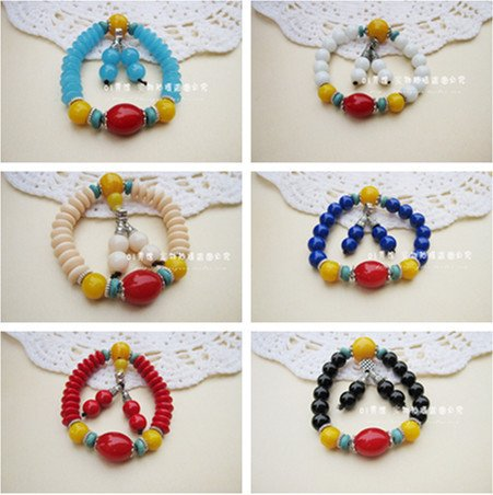 Buddhist supplies crystal rosary beads bracelet agate chalcedony single-layer transport beeswax bracelets Ms. male models