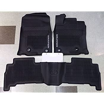 2016-2018 Genuine Toyota 4Runner All Weather Mats PT908-89160-02 OEM