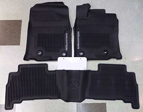 (2016-2018 Genuine Toyota 4Runner All Weather Mats PT908-89160-02)