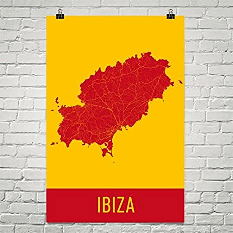 Amazon.com: Ibiza Poster, Ibiza Art Print, Ibiza Wall Art, Ibiza Map ...
