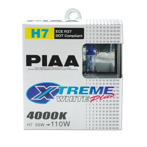 PIAA 17655 H7 Xtreme White Plus High Performance Halogen Bulb, (Pack of 2) ()