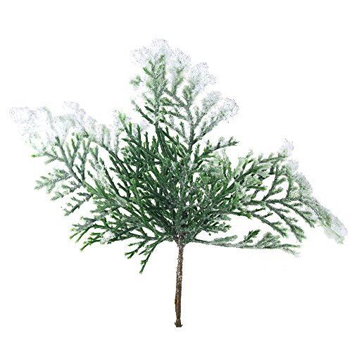 Homeford FKA00000000H4625 Artificial Snow Cedar Pick Branches Ornaments, 3