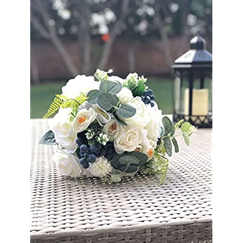 green and white wedding bouquets amazon com