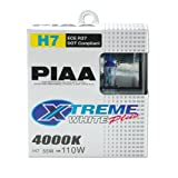 PIAA 17655 XTREME Cool Blue White Plus Light H7 12V 55=110-Watt Bulb - Twin Pack