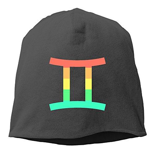 dmn-fashion-solid-color-gemini-of-zodiac-turtleneck-cap-for-unisex-black-one-size