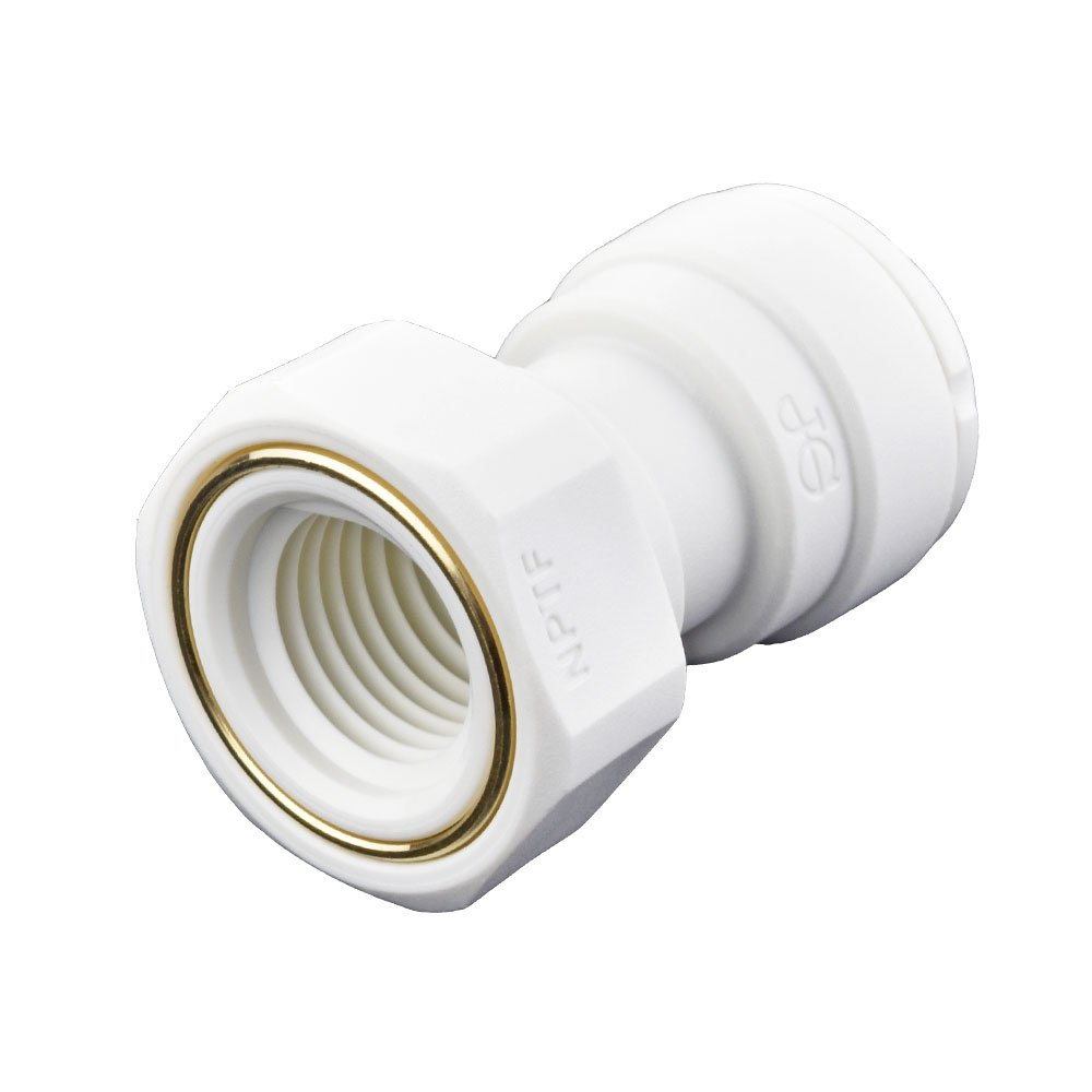 John Guest Speedfit PP451222WP Female Adapter 3/8 inch Od x 1/4 inch Nptf Push-To-Connect