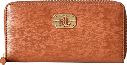 LAUREN Ralph Lauren Women's Newbury LRL Zip Wallet Lauren Tan One Size