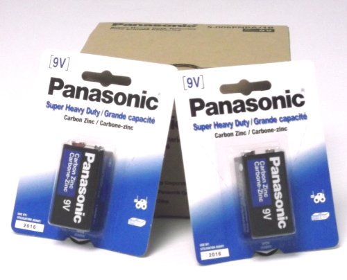 24 Pack Panasonic Super Heavy Duty 9V Batteries Retail Packa