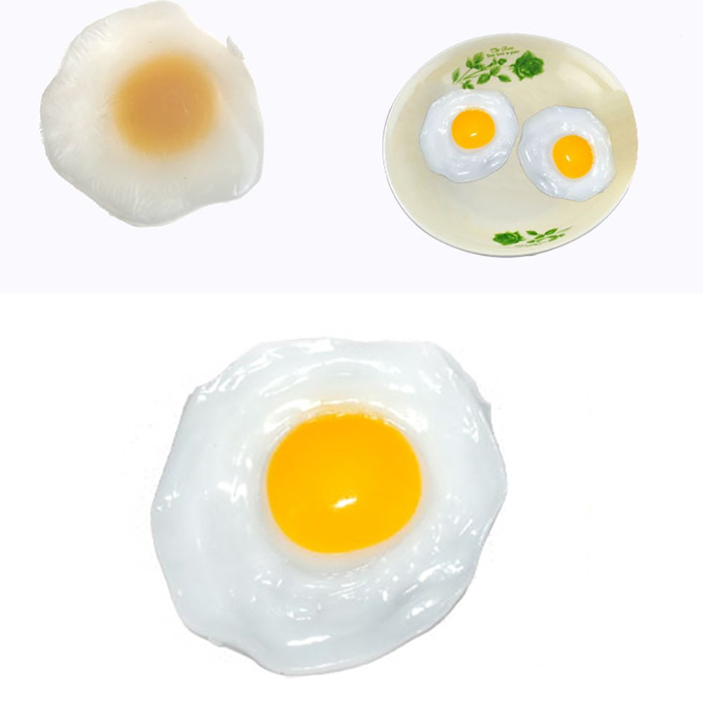 Catnew Lovely Children Play Toy Fried Egg Food Simulation Anti Stress Anxiety Relief Car Decor by Catnew (Image #2)
