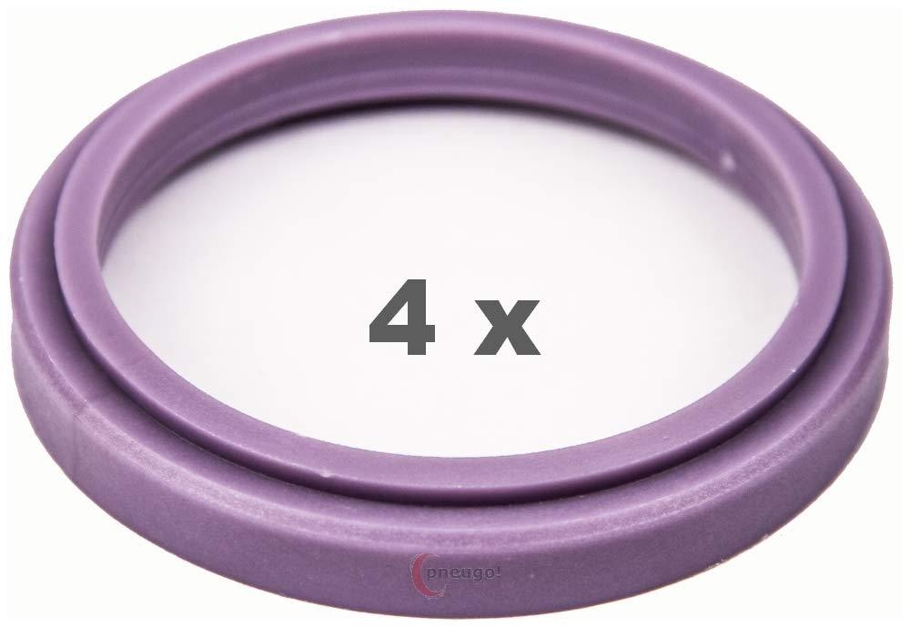 4 X Anello Di Centraggio 72.0 su 57.1 viola/Purple Pneugo