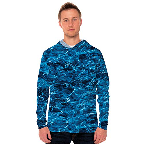 (Vapor Apparel Mossy Oak Elements - Marlin Men's UPF 50+ Long Sleeve Hoody Large)