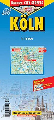 Köln: 1:15 000. Einzelkarten: Köln 1:15 000. Köln Altstadt 1:8 000. Müngersdorf 1:20 000. Großraum Köln-Bonn 1:125 000. Nahverkehrskarte (Berndtson City Streets)