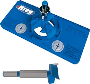 Kreg Tool Company KHI-HINGE Concealed Hinge Jig with KHI-BIT 35mm Concealed Hinge Jig Bit