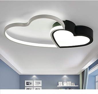 Modern Led Deckenleuchte Chic Liebe Design Deckenlampe Dimmbar Schlafzimmer  Deckenbeleuchte Acryl-Schirm Metal mit Fernbedienung Lampe für Wohnzimmer  ...