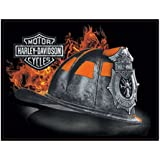 Harley-Davidson Embossed Firefighter Helmet Tin Sign, 17 x 13 inches 2011251