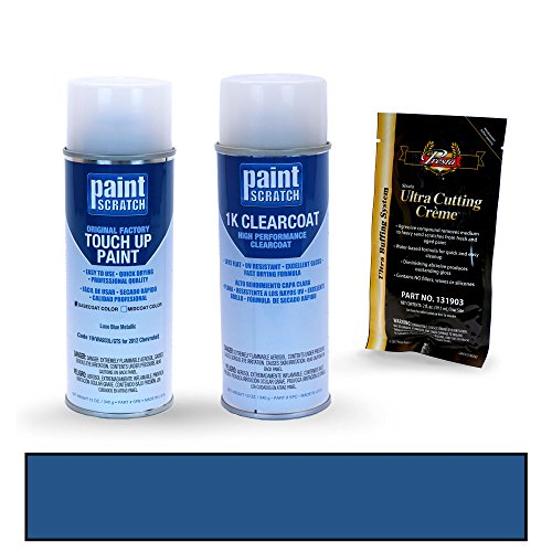 [2012 Chevrolet Avalanche Luxo Blue Metallic 19/WA933L/GTS Touch Up Paint Spray Can Kit by PaintScratch - Original Factory OEM Automotive Paint - Color Match Guaranteed] (Factory Spray Paint)