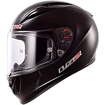 LS2 Arrow Solid Full Face Motorcycle Helmet (Black, XX-Large)