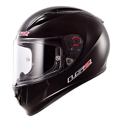 LS2 Helmets Metro Casco modular sólido para motocicleta 4, LS2 Flecha negra (Arrow Black), Negro, XS