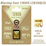 Amplim extreme high speed 32gb uhs-ii v90 sdxc sd card for 4k 8k uhd video camera camcorder 8 ultra high performance sd card: blazing speed 1900x (285mb/s) transfer rate. Twice the read speed of 1000x card. Newest sd association sd 5. 0 specs v60+ video rating provides 4k continuing shooting (other uhs-ii cards without v ratings are last generation sd 4. 0 cards). Top rated uhs-ii u3 class10 pro extreme turbo fast high capacity sd card for latest uhs-ii sdxc (sd xc) compatible cameras, accessories, usb-c sd card reader, microsoft surface book 2 and super fast 3d hdr 360 4k dslr and 3d professional photographer memory card: 32, 64 128 and 256 gig uhs-ii high capacity cards for dslr and mirrorless uhs-ii video cameras (sony, fuji, leica, nikon, olympus, panasonic, samsung). Sony alpha a9 a7 a7r mark iii sf card cyber-shot rx1r ii; fujifilm fuji x-t1 x-pro2 x-t2 gfx 50s x-h1 x-e3; leica sl type 601 m10; nikon d850 d500 fx; olympus om-d e-m5 ii om-d e-m10 ii iii pen-f om-d e-m1 mark ii; panasonic lumix dc-g9 gh5s gh5 gh4; samsung nx1; black magic ursa; support all uhs-ii devices backward compatible with uhs-i cameras (note: speed of uhs-ii card will be limited by the uhs-i sd slot): sony cyber-shot dsc w800 w830 dsch300 alpha a7r ii dsc-rx10 iv a6500 a9 a6300 a99 ii; canon powershot sx720 sx730 sx530 hs elph 180 190 is g7 x 5d mark iv iii ii eos 80d 5ds r rebel t7i t6 t5 kiss x70 x9 x9i 1300d 1200d m100 sl2 200d m56d m10 m677d 9000d 800d; nikon coolpix l32 l340 b500 d3400 d5300 d3300 d750 d7200 d7500 d5600