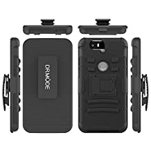 Nexus 6P Case, Huawei Nexus 6P Clip Case, Dual Layer Hybrid Shockproof Case with Kickstand and Belt Clip Cover for Google Huawei Nexus 6P (Black)
