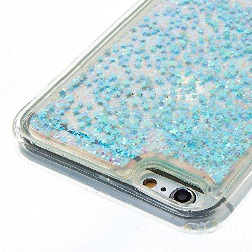 iPhone 6S Plus Hülle, iPhone 6 Plus Silikon Schutzhülle, Anfire Bling 3D Transparent Handy Case Hülle für iPhone 6 Plus 6S Plus (5.5 Zoll) Weich TPU Silikon Schutzhülle Kreativ Dynamisch Treibsand Liq