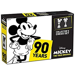 USAOPOLY Mickey The True Original Chess Set 90th Anniversary | Collectable Piece Figures Set | 32 Custom Scuplt Pieces…