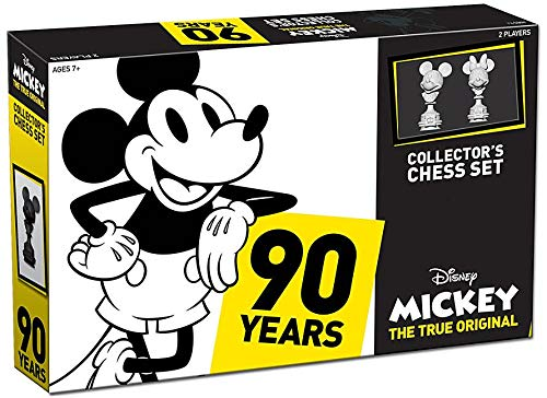 - USAOPOLY Mickey The True Original Chess Set 90th Anniversary | Collectable Piece Figures Set | 32 Custom Scuplt Pieces | Classic Disney Mickey Mouse Characters