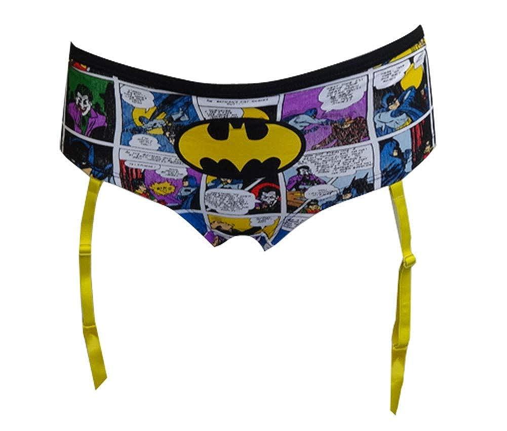 Underboss Womens DC Comics Batman Comics Panty with Garters