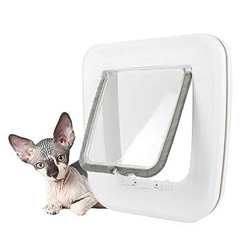 JLCYYSS Aletas para Gatos, Puerta para Mascotas De 2 Vías, Cierre De 2 Vías con Ajuste Fácil, Adecuado para Perros Y Gatos Pequeños: Amazon.es: Deportes y ...
