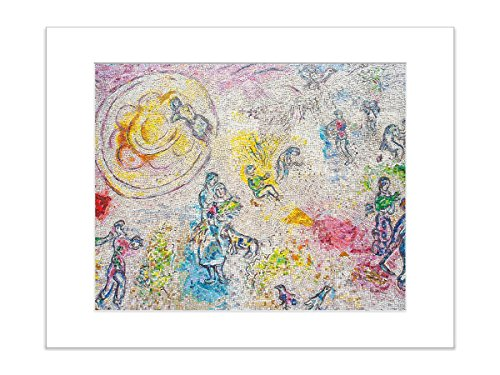 (Street Art Urban Architectural Photo Chagall Mosaic Chicago 8x10 Inch Matted Print)