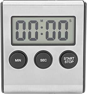 Digital Timer, Digital Timer, Large LCD Display Digital Kitchen Timer with Back Stand Support Wall Mounted and Desktop Countdown Stopwatch Timer for Cooking, Gym, BBQ, Kids, Teacher