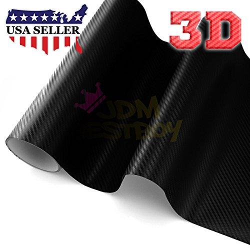 Sample Black 3D Carbon Fiber Textured Matte Car Vinyl Wrap Sticker Decal Film Sheet - 4''X8'' (10cm x 20cm) Sample by JDMBESTBOY (Image #1)